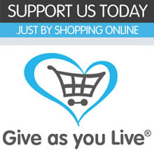 Support us today just by shopping online. Give as you live logo