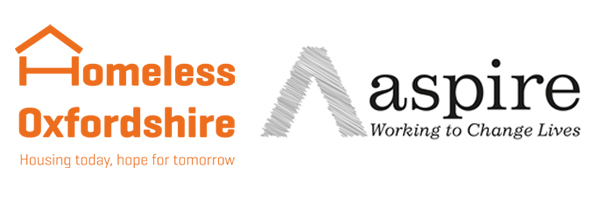 Homeless Oxfordshire and Aspire's logos