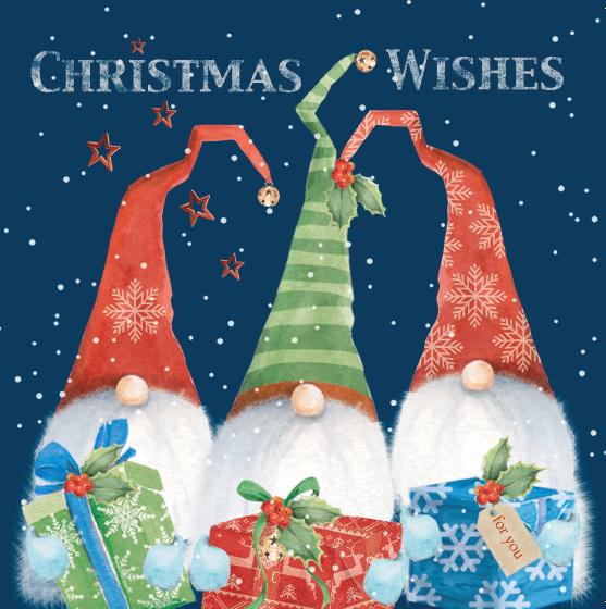 Three Elves Christmas card