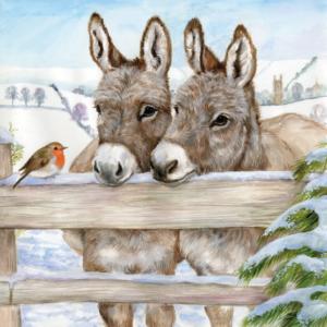 Donkey Companions Christmas card