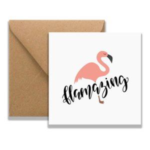 Flamingo Card and envelope