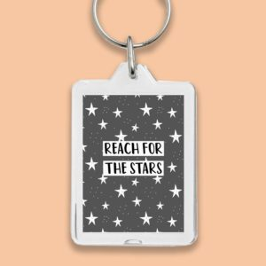 Reach for the stars key ring