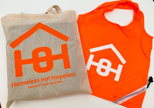 Canvas and orange Bags | Homeless Oxfordshire shop